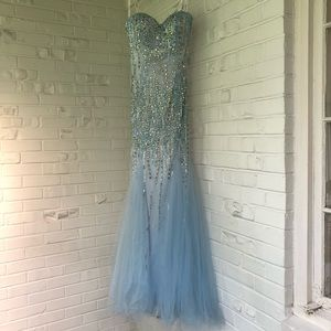 Tony Bowls Paris Strapless Mermaid Prom Dress